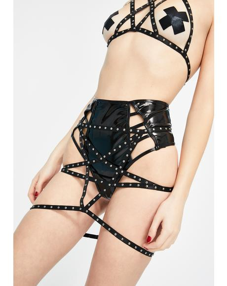 Be My Stud Caged Panty Skirt