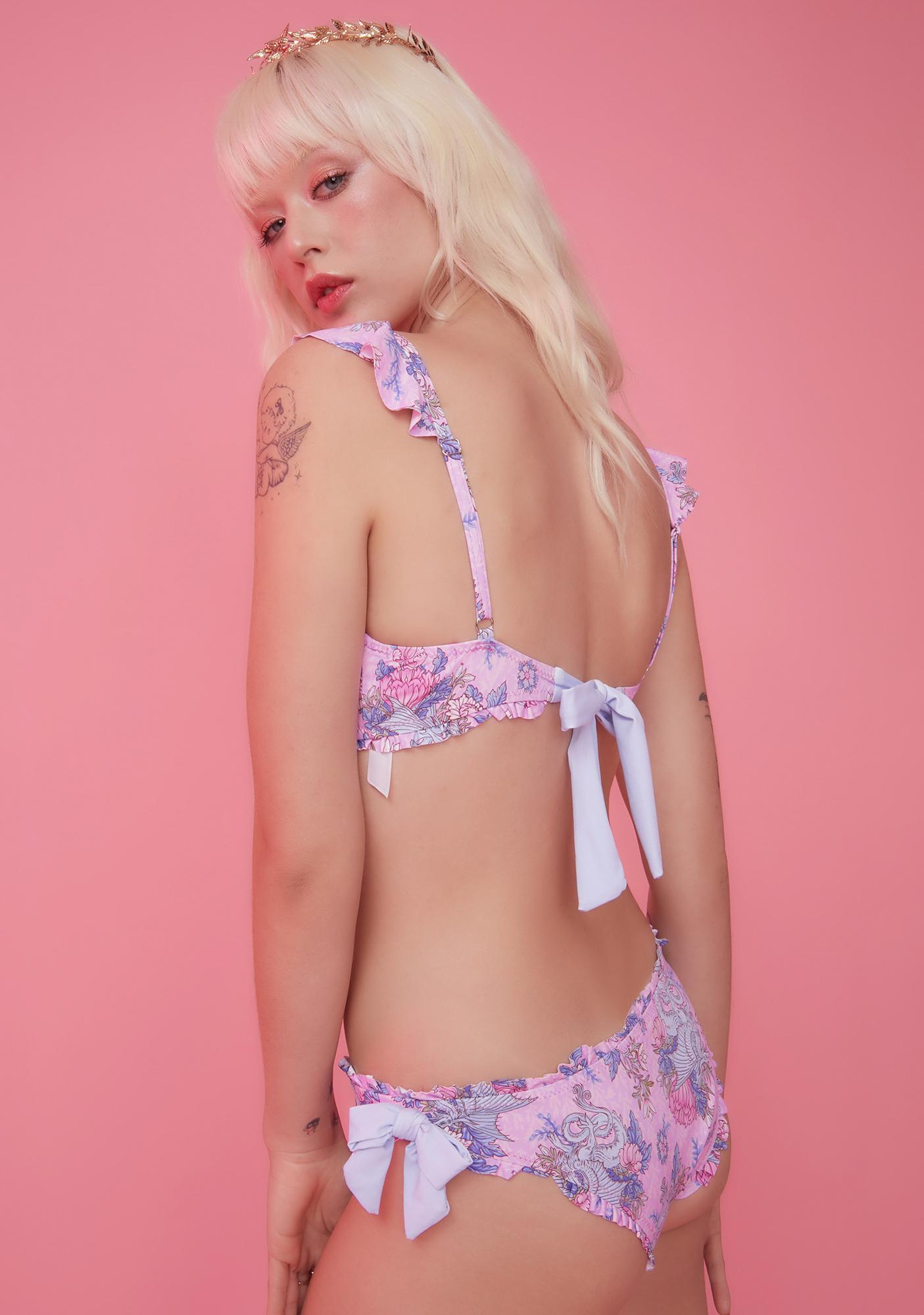 Sugar Thrillz Are We Human Dragon Print Bikini Set