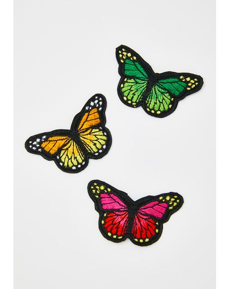 She's A Catch Butterfly Clips