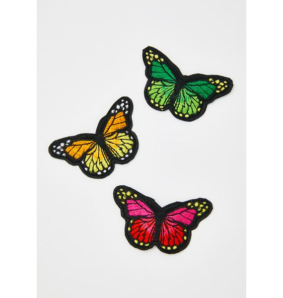 She's A Catch Butterfly Clips