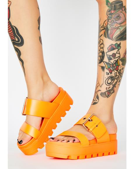 Juice Settle Down Platform Sandals