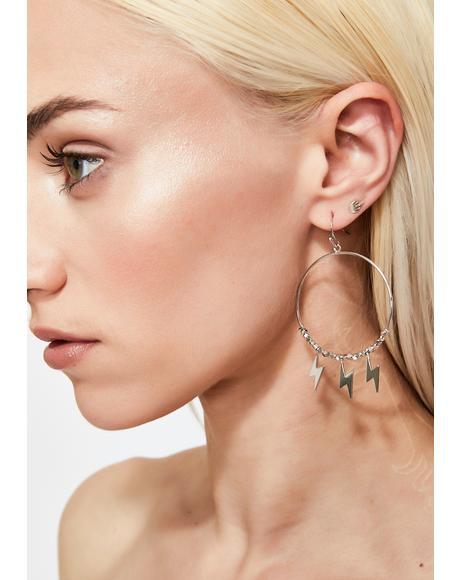Thunder Goddess Hoop Earrings