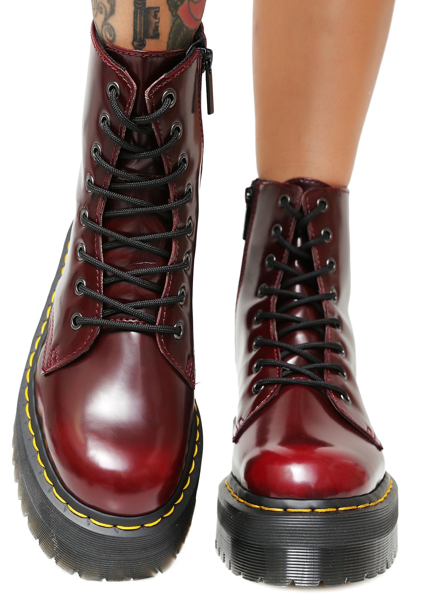 ... Dr. Martens Cherry Vegan Jadon II Boot ...