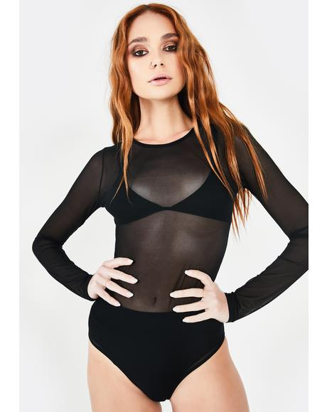 Baddie Show Out Sheer Bodysuit