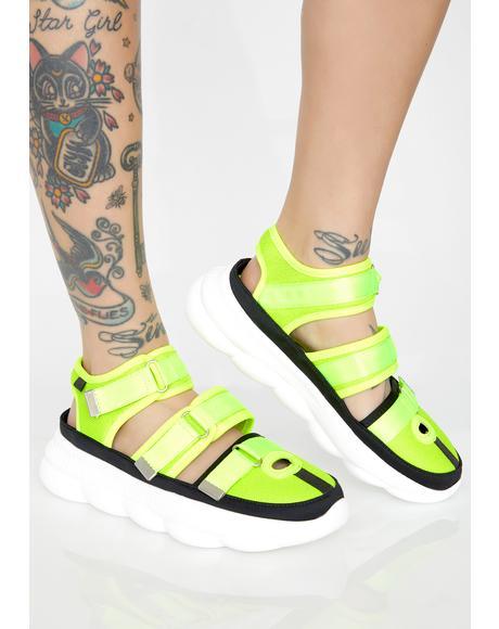 Solar Diver Platform Sneakers