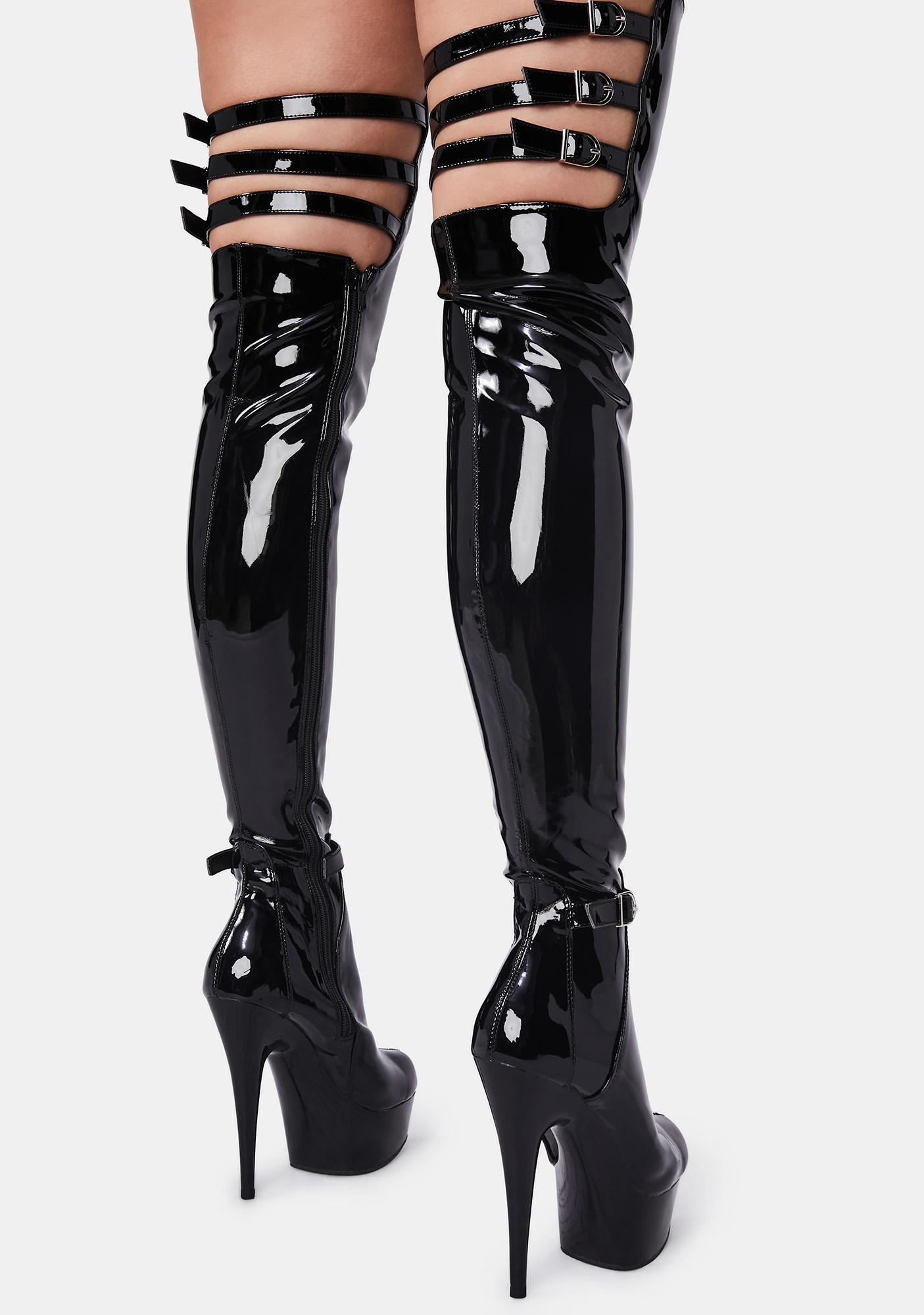Pleaser Vixen Mission Thigh High Boots