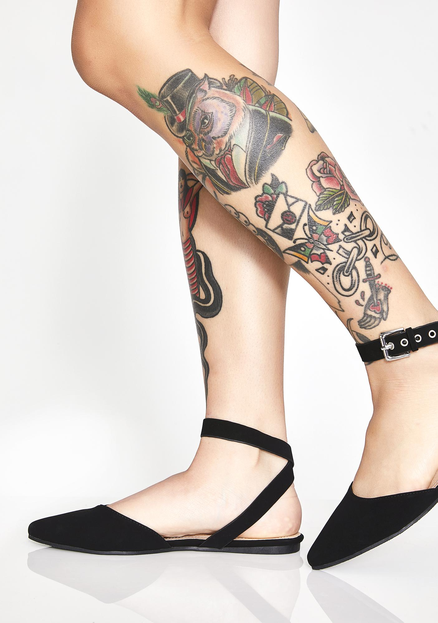 Forever Needed Buckle Flats