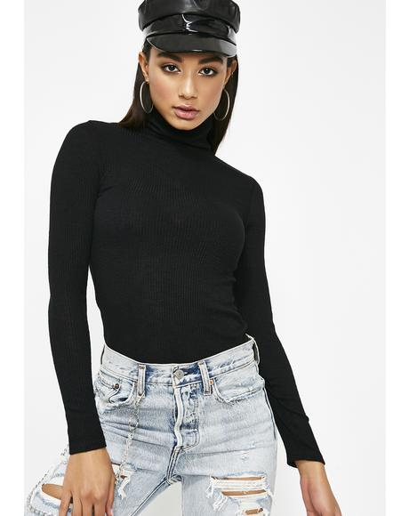 Spillin' Tea Turtleneck Top