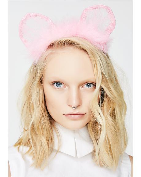 Your Lil Kitten Fluffy Ears Headband