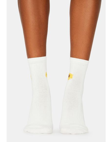 Petalhead Sunflower Crew Socks
