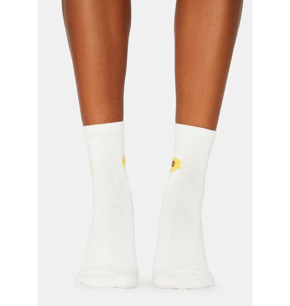 Petalhead Sunflower Crew Socks