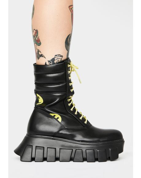 Crooked Smiles Platform Boots