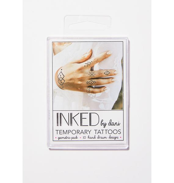 INKED by Dani The Geometric Temporary Tattoo Pack