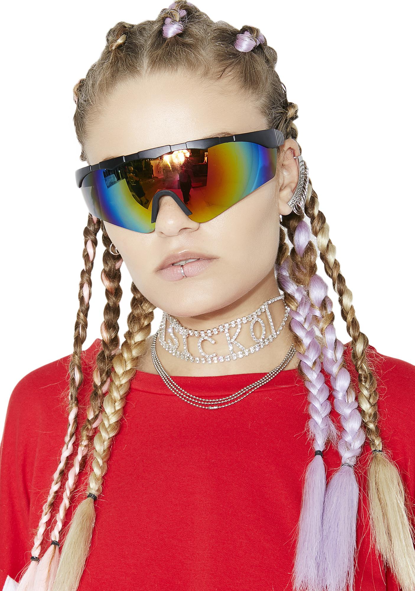 Rave Rainbow Shield Sunglasses