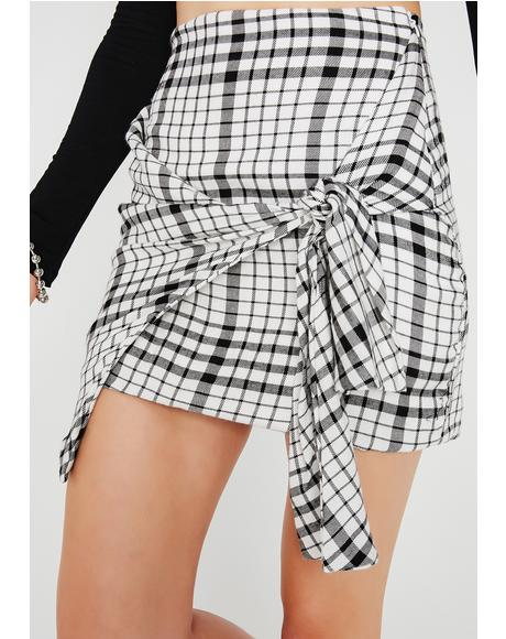 Not Around Plaid Skirt