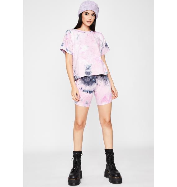 Blush Firecracker Tie Dye Shorts Set