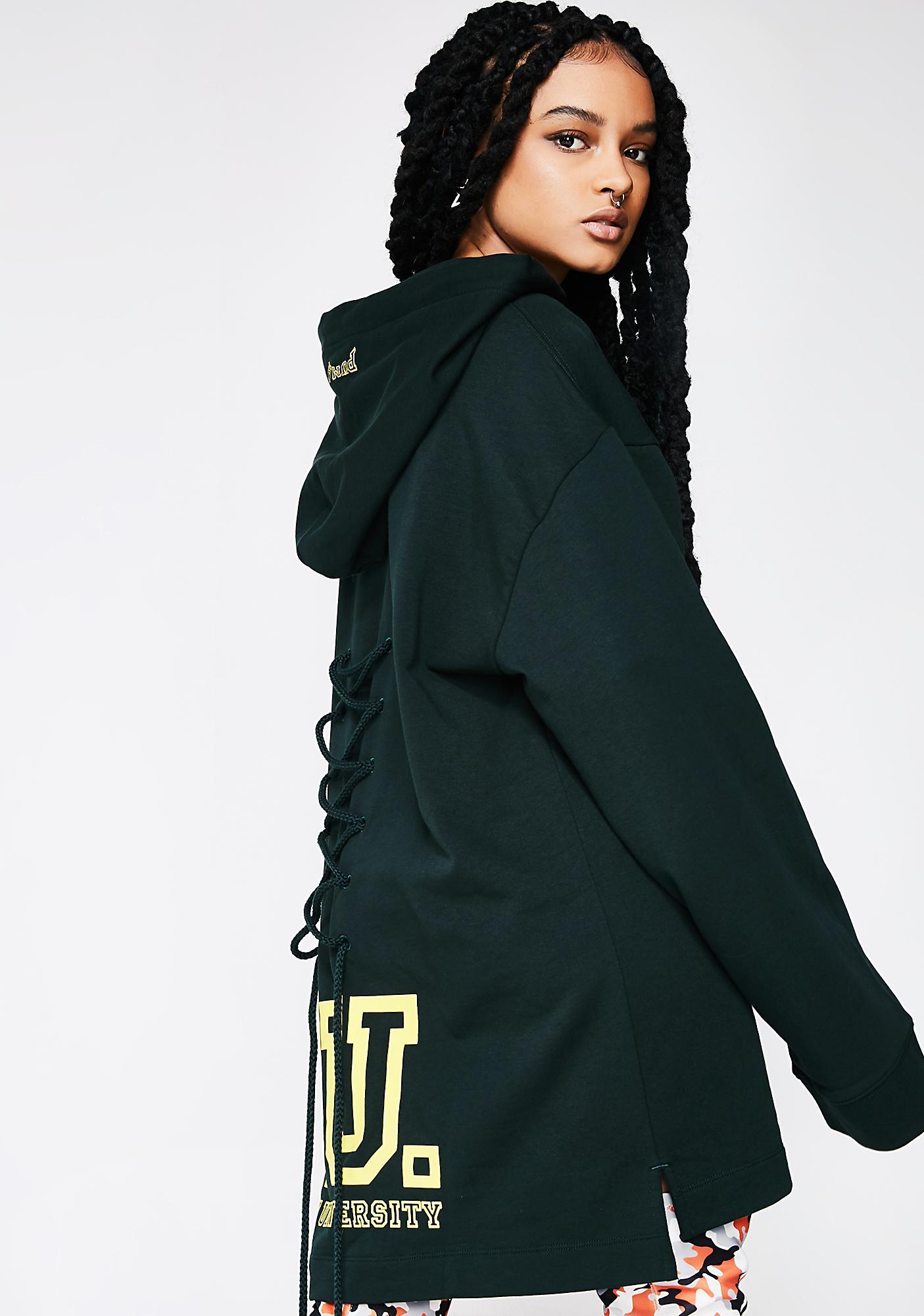 PUMA FENTY PUMA By Rihanna Long Sleeve Back Lacing Hoodie