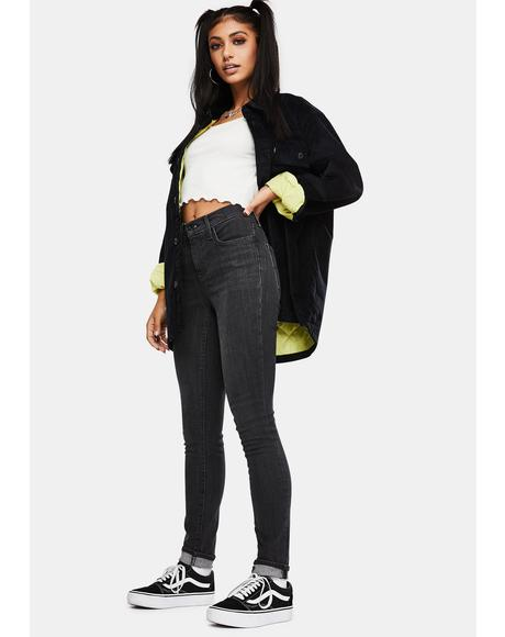 Washed Black Tide 311 Shaping Skinny Jeans