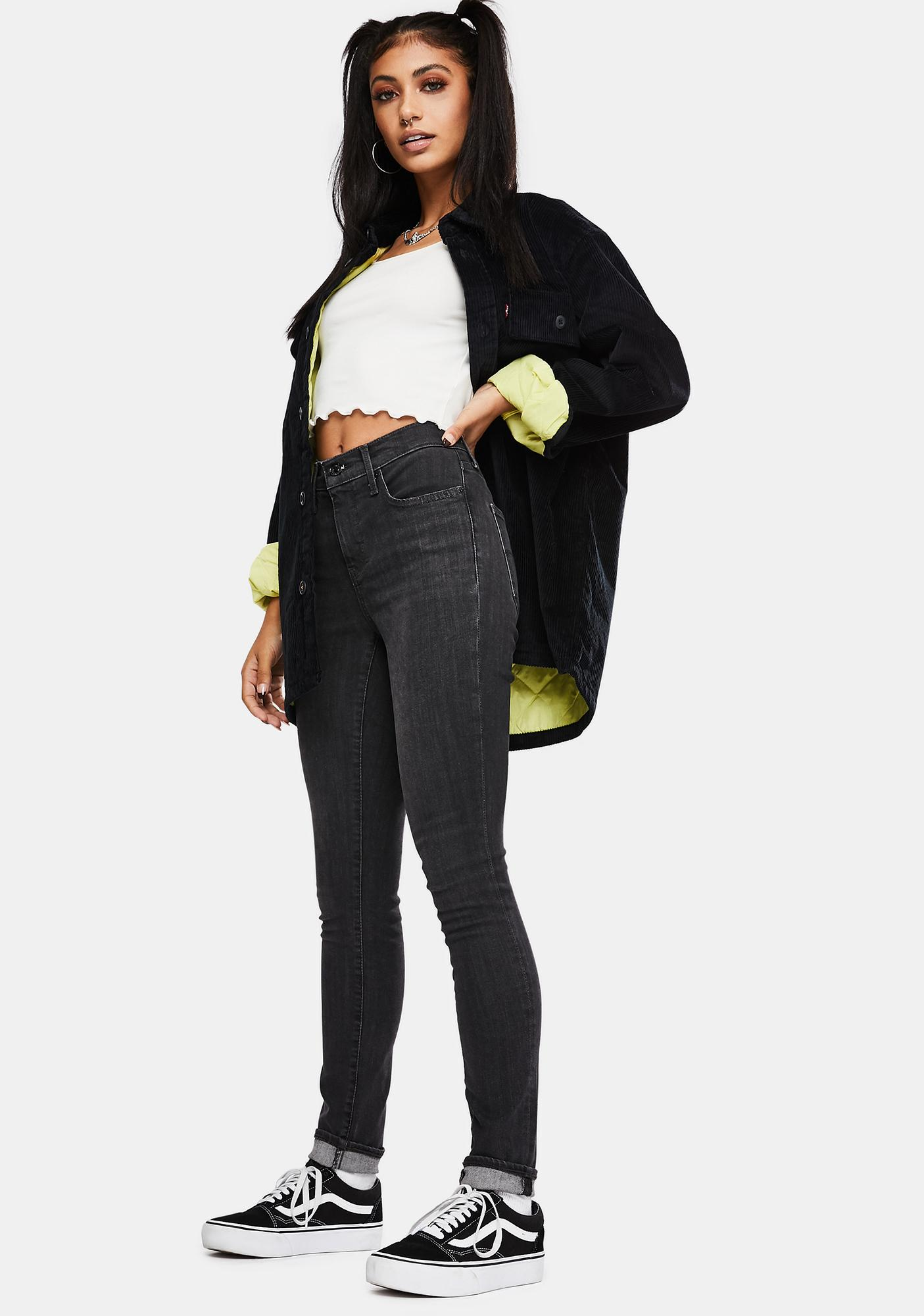 Levis Washed Black Tide 311 Shaping Skinny Jeans