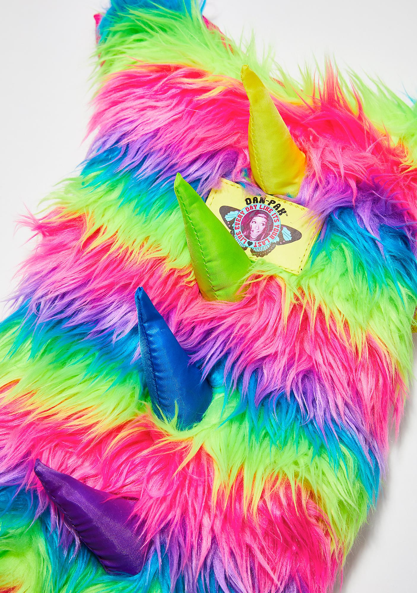 Dan-Pak Neon Furry Monster Hydration Backpack