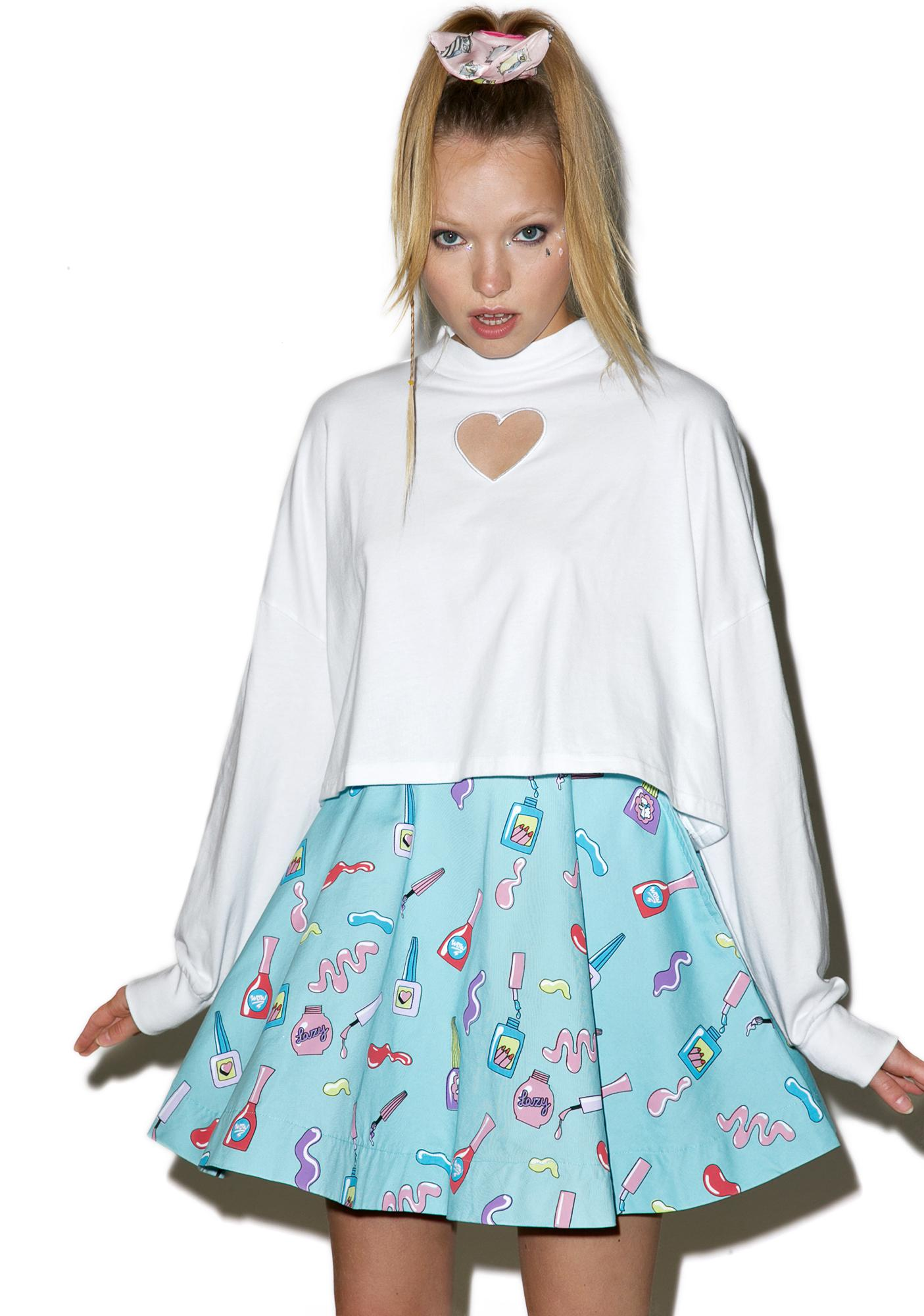 Lazy Oaf Heart Holes Long Sleeve Shirt