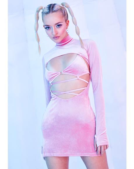 Rave Bunny Velvet Cut-Out Dress