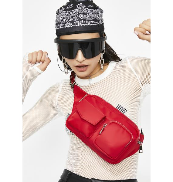 Cherry Click It Chain Fanny Pack
