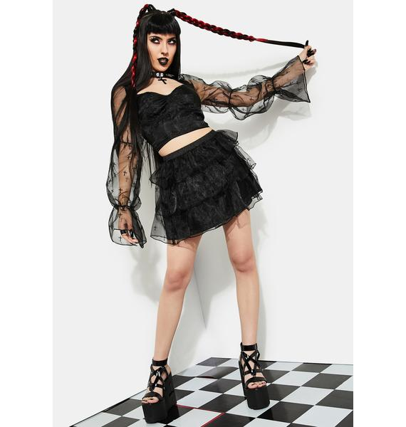 Current Mood Answer To Your Prayers Ruffle Skirt