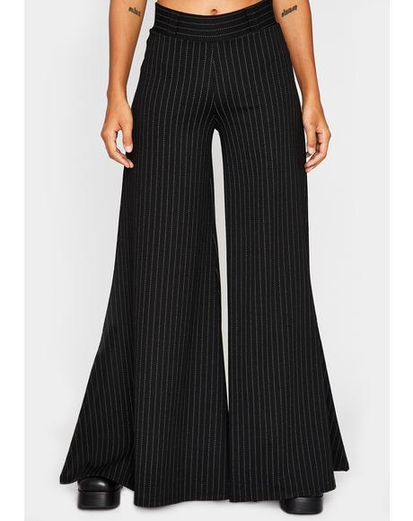 Brownie Points Pinstripe Flares
