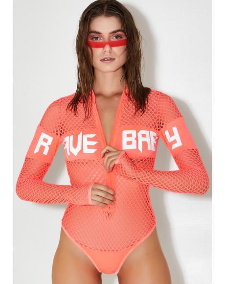 Rave Baby Fishnet Bodysuit