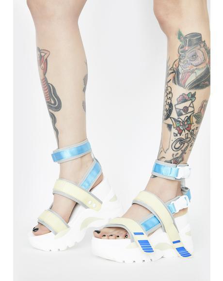 Oval Platform Sandals