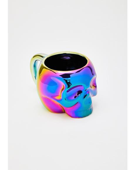 Iridescent Skull Mug
