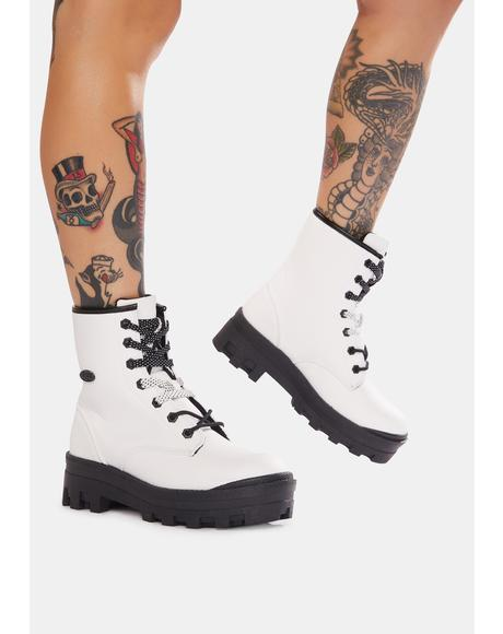 White Dutch 6-Inch Combat Boots