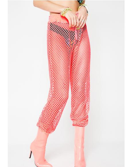 Neon Burn Baby Mesh Pants