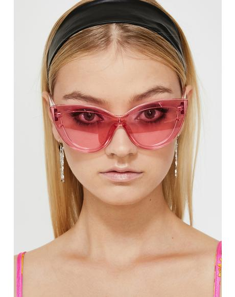 High Glamour Gossip Oversized Sunglasses