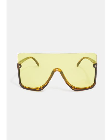 Lemon Broken Promises Oversized Sunglasses