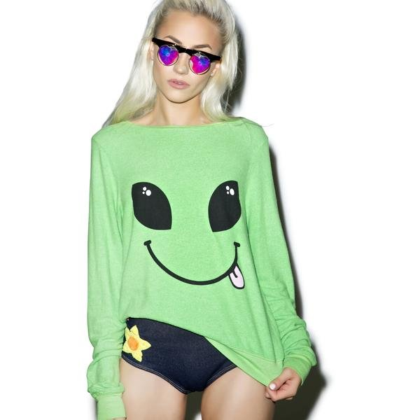 Wildfox Couture I Come In Peace Baggy Beach Jumper
