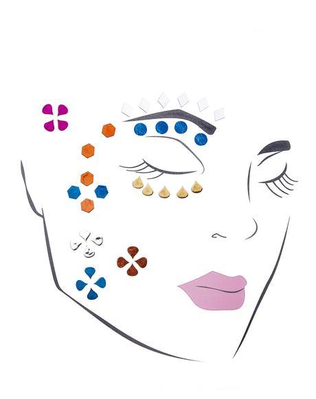 Harlequin Hottie Face Jewels