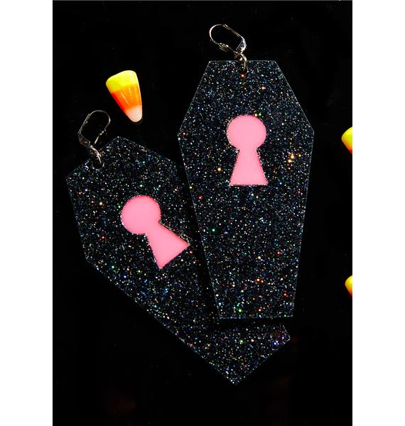 Marina Fini Glitter Coffin Earrings