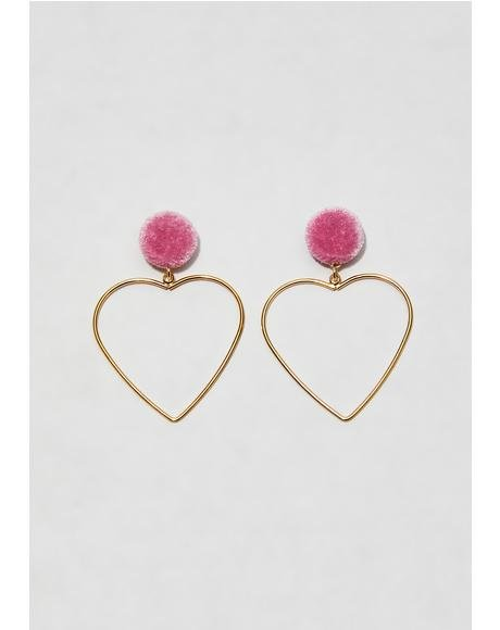 Lovable You Heart Earrings