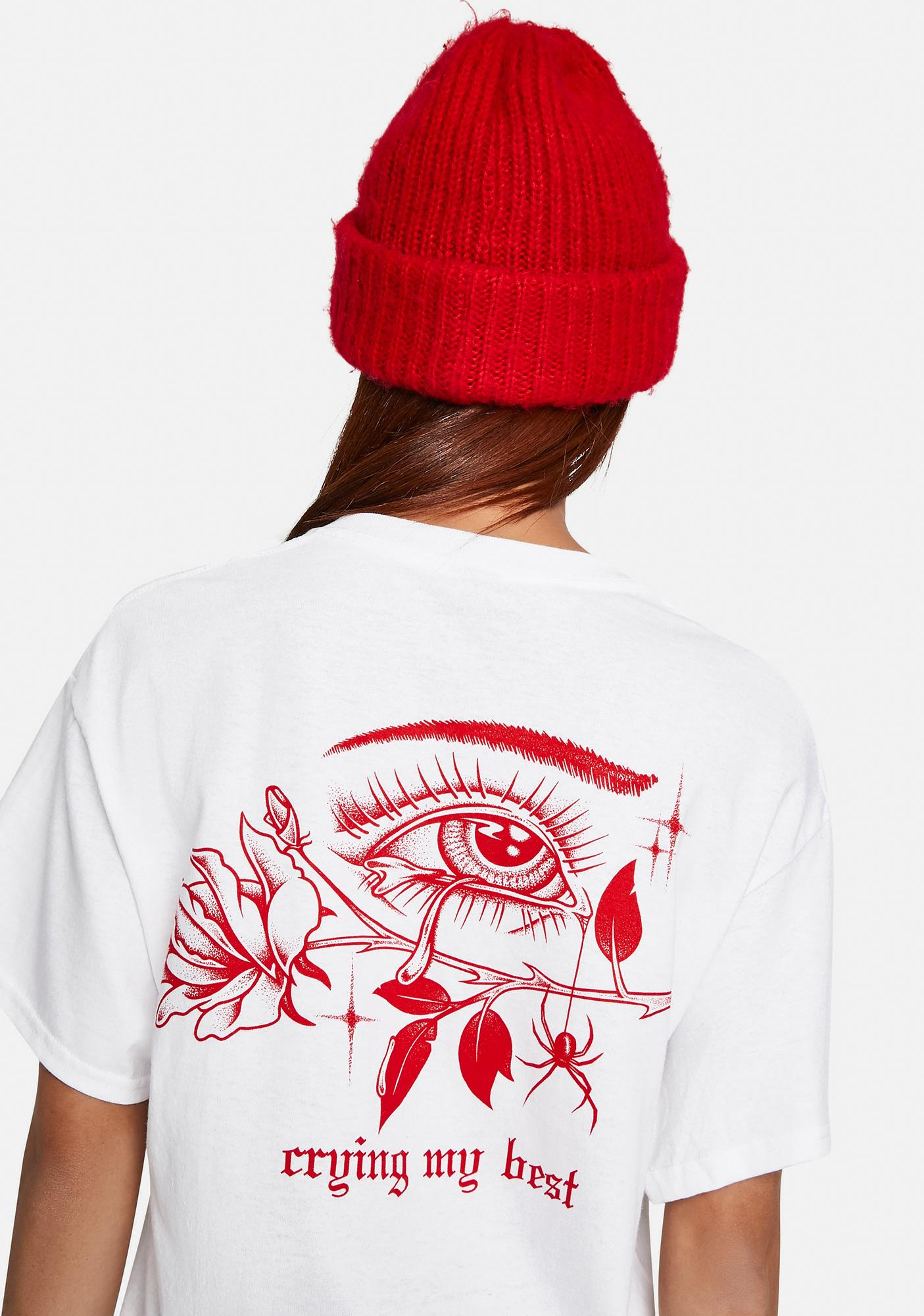 GRIM DAYS Crying Graphic Tee