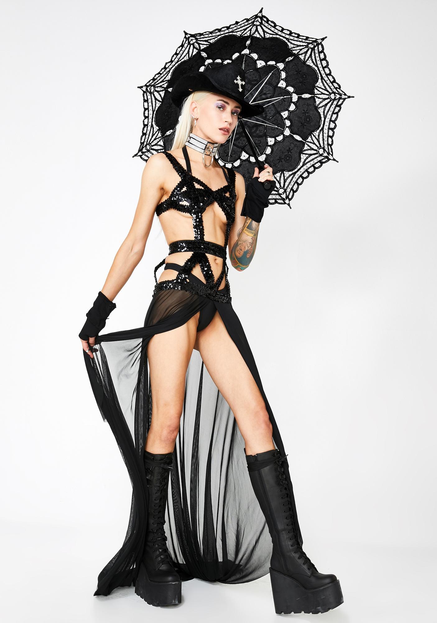 Goddess Asteria Cutout Dress