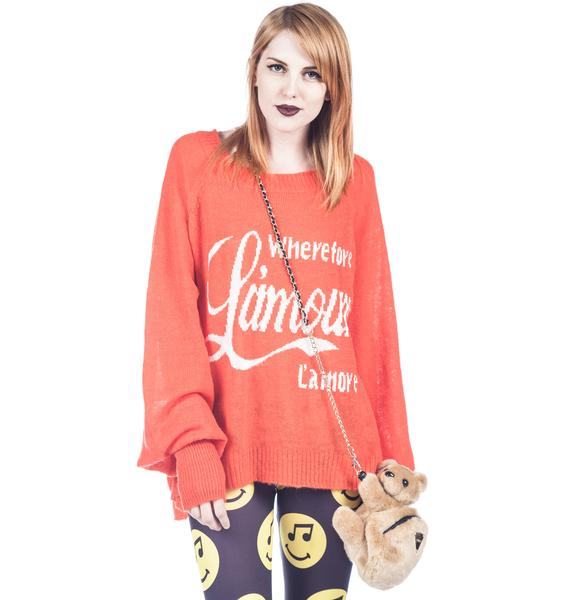 Wildfox Couture L'Amour Pfeiffer Sweater