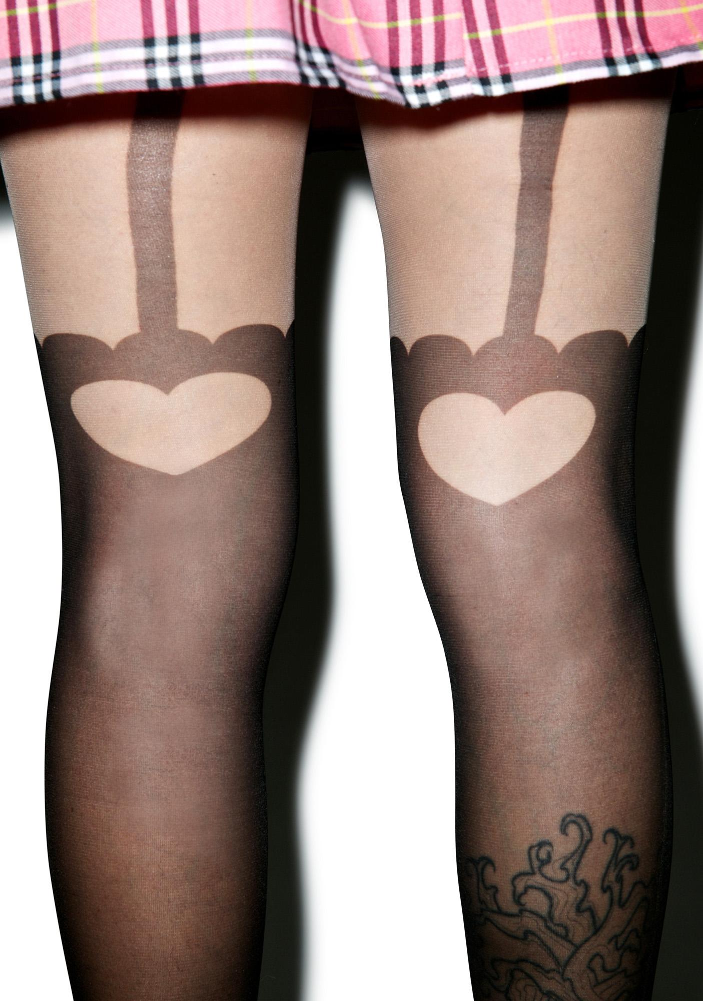 Sugarbaby Garter My Heart Tights