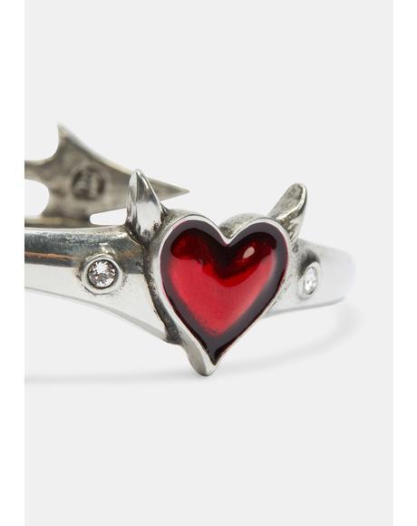 Devil Heart Bracelet
