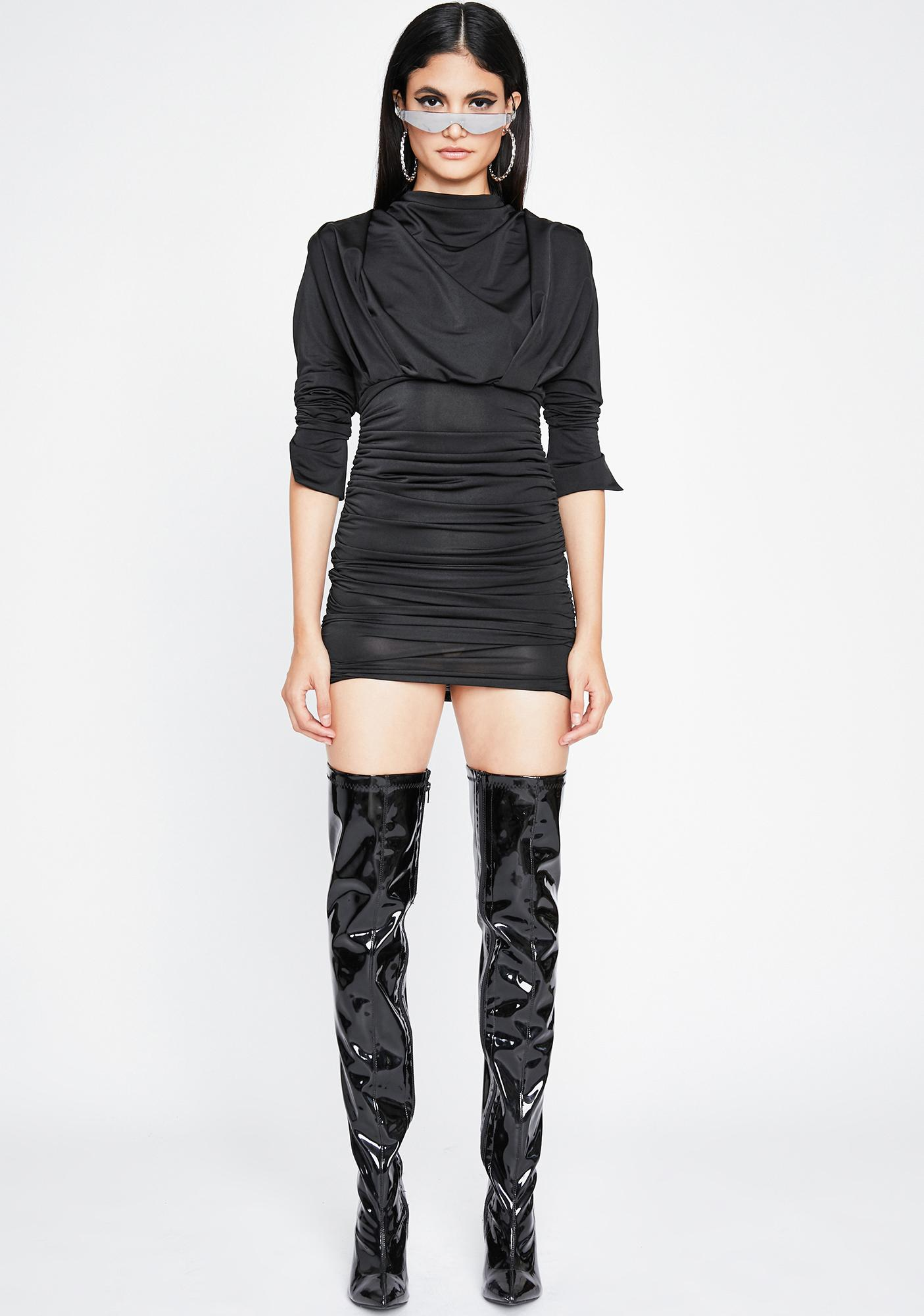 Sinful Glam Command Ruched Dress