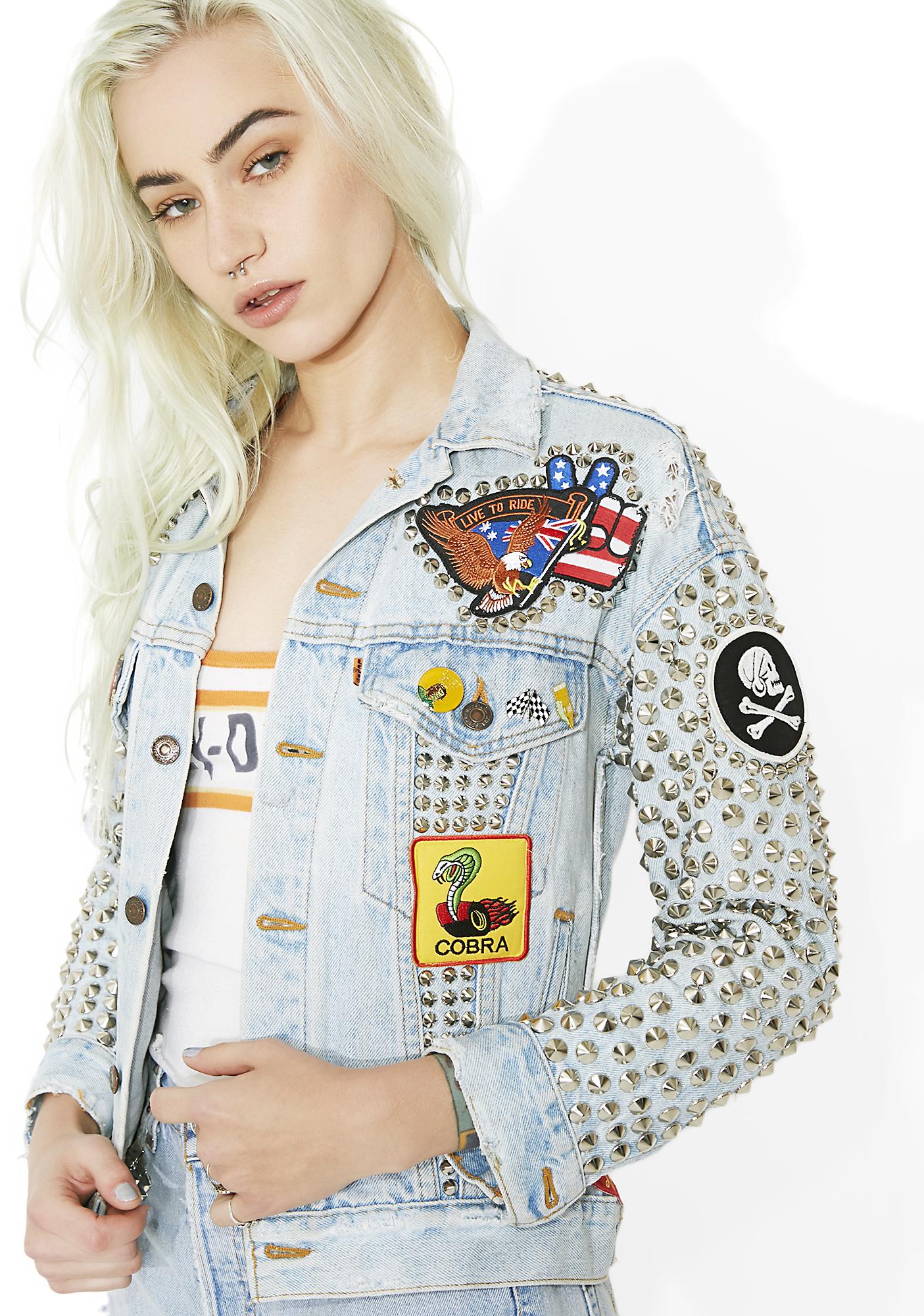 Hazmat Design Vintage Deadstock Live Free Jacket