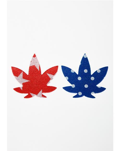 American Weed Leaf Pasties