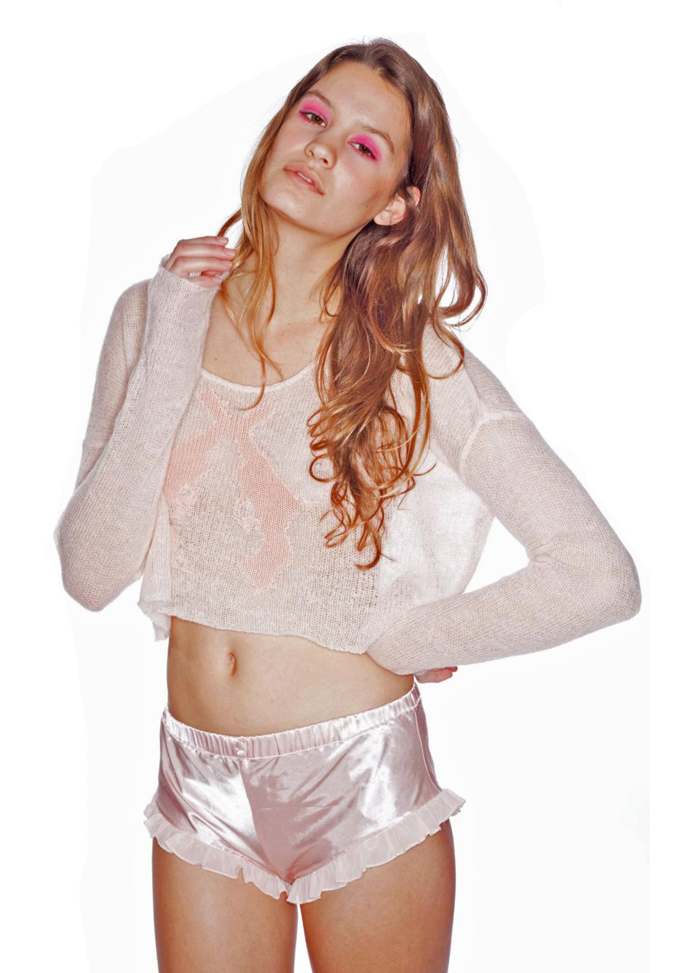 Wildfox Couture Annie Billy Cropped Sweater