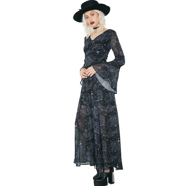 Hell Bunny Dark Sea Maxi Dress